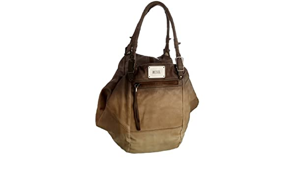 636bc61ea8909 Diesel Women s She The Warrior Divina Hobo Natural Brown X00941 PS700  T2285  Amazon.co.uk  Shoes   Bags