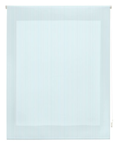 Blindecor Estor Enrollable, Tela, Rayas Turquesa, 100 x 180 cm