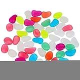 Jimfoty Luminous Pebbles, 50 Stück Glow In The Dark Künstliche Luminous Pebbles Stein Aquarium Decor Aquarium Pebbles Small