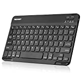 TECKNET Ultra Slim (5mm) Wireless Bluetooth Tastatur (QWERTZ, Deutsches Tastaturlayout) Für iOS, Android, Windows und Mac