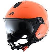Astone Helmets MINISPORT-REDXS Minijet Sport - Casco de motocicleta, Naranja Mate, XS