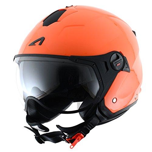 Astone Helmets Casco Jet Sport Mini, color  Matt Naranja, talla S