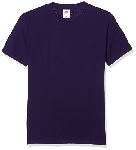 fruit-of-the-loom-ss022m-t-shirt-homme-violet-small