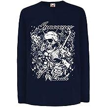 lepni.me Camiseta para Niño/Niña Inocencia de la Muerte - Calavera ...