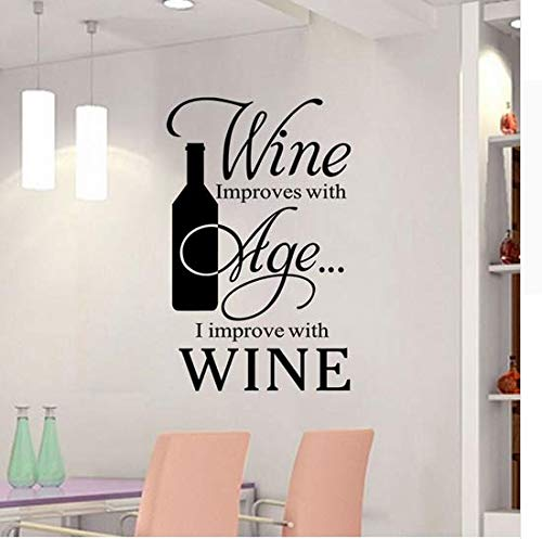 Newberli Red Wine English Proverbi Wall Stickers Cucina Ristorante Personalità Wall Stickers Home Decor Sticker Quotazioni