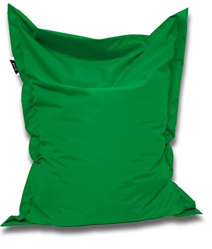Sitzsack und Sitzkissen eckig |Grün - 180x145cm - in 25 Farben und 7 versch. Größen