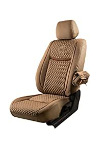 Elegant Fabric Car Seat Cover Beige Denim Retro for Nissan Terrano