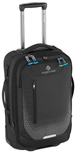 Eagle Creek Handgepäck Trolley Expanse International Carry-On erweiterbarer Rollkoffer mit Laptop-Fach Koffer, 55 cm, 36,5 l, schwarz (Internationalen Trolley)