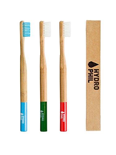 Hydrophil Bambus Zahnbürstensparset Härtegrad - Medium