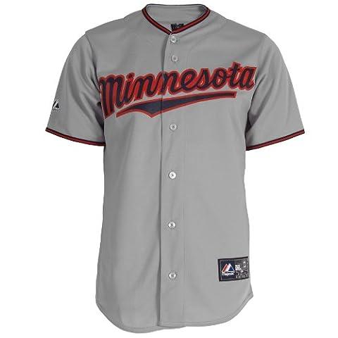 MLB Minnesota Twins Joe Nathan grau kurz Ärmel 6Knopf Synthetik Replica Baseball Jersey Spring 2012Herren, Herren, grau