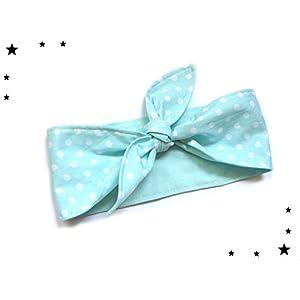 Rockabilly Haarband Mint Polka dots