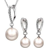 Settembre collana orecchini gioielli di perle in oro rosa 18k