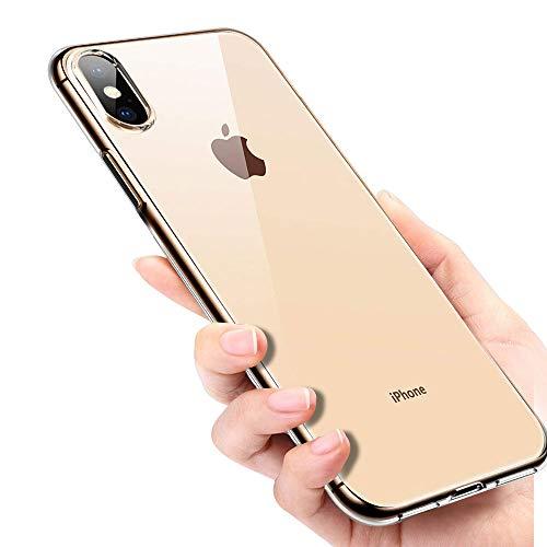 iPhone XS Handyhülle, Soft Silikon, ultradünn, transparent