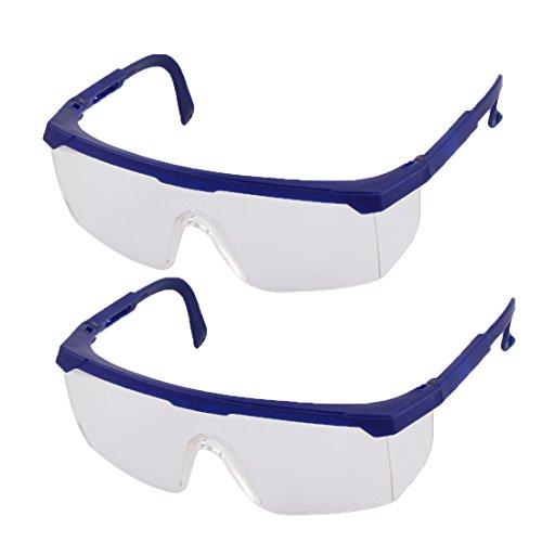 Sourcingmap® 2Stk.Werkstatt Plastik Verstellbar Arme Brille Schutz Geschirmt Schutzbrillen de