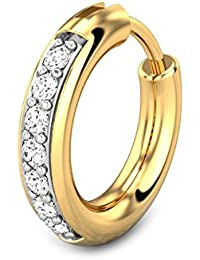 Candere By Kalyan Jewellers Toriana 18k Yellow Gold and Diamond Nosepin