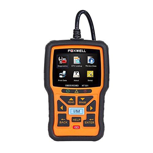 FOXWELL NT301EOBD/OBD-II Motor-Diagnosegerät/Fehlercode-Lesegerät, Anzeige und Bedienungsanleitung in englischer Sprache