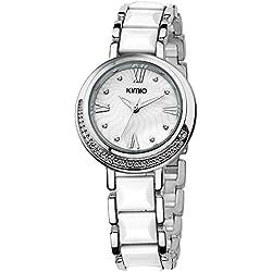 ufengke® strass blumenmuster armband armbanduhren für frauen damen mädchen-weiß