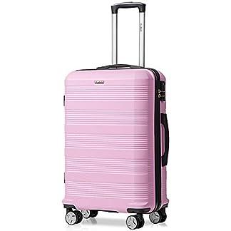 Reisekoffer-Kofferset-Hartschale-Koffer-4-Zwillingsrollen-Trolleys-Gepck-Koffer-Leichtgewicht-ABS-3tlg