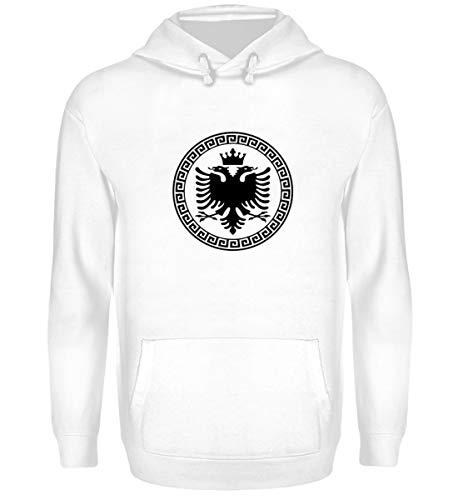 Hochwertiger Unisex Kapuzenpullover Hoodie - Albanische Flagge Shirt Albanischer Adler Albanien T-Shirt Kosovo Geschenk (Adler Pullover)