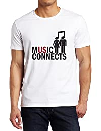 Music Connects Funny Music Fan Shirt Custom made T-shirt