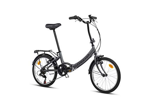 Moma Bikes Bicicleta Plegable Urbana SHIMANO FIRST CLASS 20 Alu, 6V. Sillin Confort, Gris