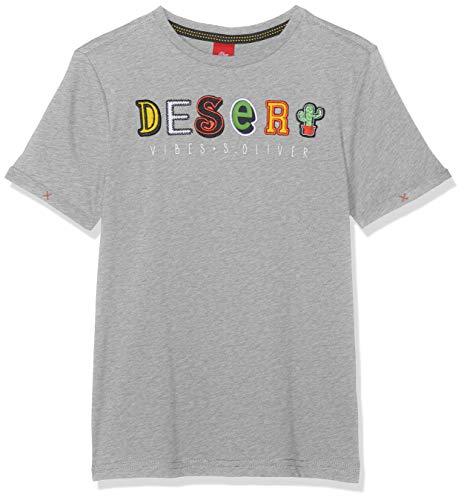 s.Oliver Jungen 63.903.32.5517 T-Shirt, Grau (Grey Melange 9400), 128 (Herstellergröße: 128/134/REG)