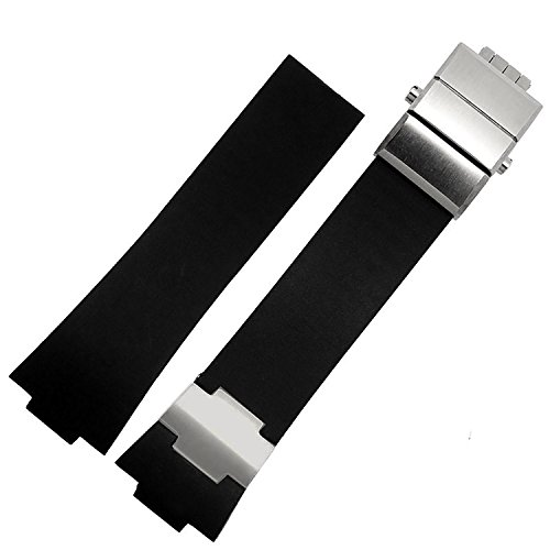 26mm-black-rubber-watch-strap-band-stainless-steel-clasp-suitable-ulysse-nardin-353-68le-3