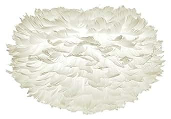 Vita 02012 Eos Lampe Suspension Plumes d'Oies/Papier/Acier Blanc Taille XL