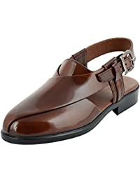 Styliano Men's Leather Outdoor Sandals