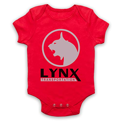 Inspired Apparel Inspiriert durch Stranger Things Lynx Transportation Unofficial Babystrampler, Rot, 6-12 Monate -