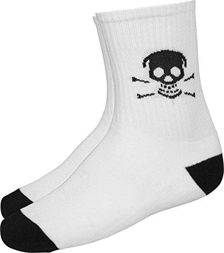 Famous Stars and Straps Herren Famous Skull Socken, White, 39-42 (Star Skull White)