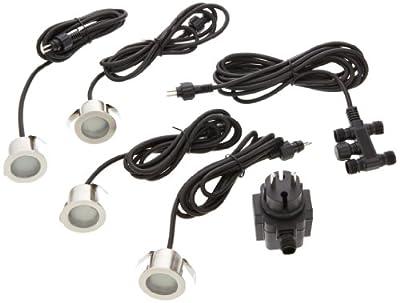 Paulmann 98868 Spec. Mini Boden EBL rund IP65 Basisset 4x0,6W 230V 10,5VA 44mm Edelstahl von Paulmann Leuchten - Lampenhans.de