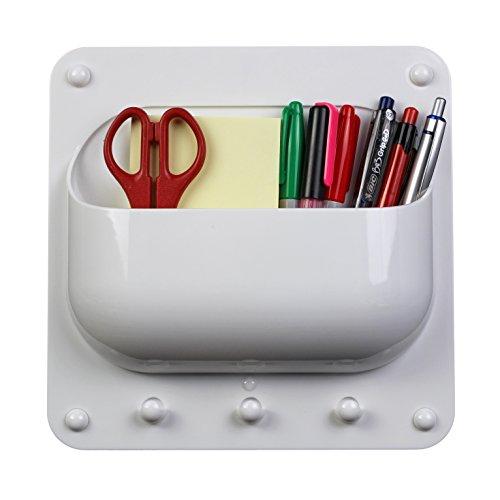 O-Life Behälter Organizer für Aufhängen von Schlüsseln und Lagerung von Stiften, Notizen, Ladekabel, Adapter und anderes Zubehör für Büros, Klassenzimmer und Zuhause (Schuhe Sackleinen)