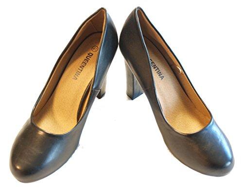 Queentina Pumps High Heels Damenschuhe mit Absatz (10 cm) / Schwarz / MM131219 (36, Schwarz)