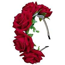 tininna corona de tiara guirnalda flor de pelo cabeza para novia boda para