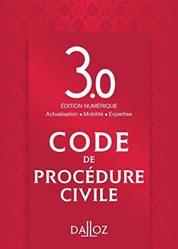 Code de procédure civile Édition 3.0