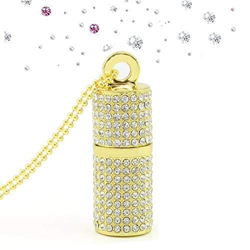 Shooo USB-Stick,Bling Rhinestone Diamond Crystal Glitter Lippenstift