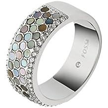 Fossil mujeres anillo de acero inoxidable plata jf02313040505–53