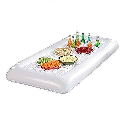Jeffergarden Aufblasbare Pool Float Wasser Party Game Luftmatratze Lebensmittel Eiskübel Biertisch für Sommerferien Ins
