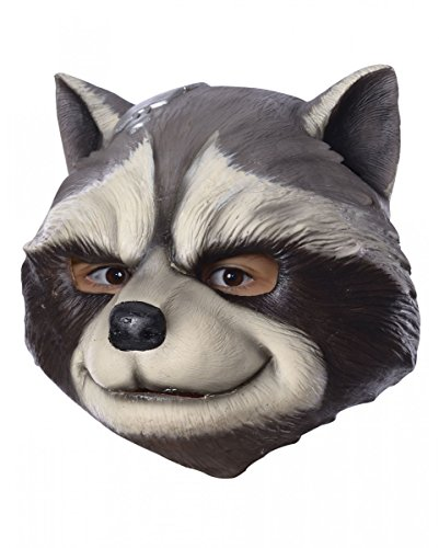 Horror-Shop Rocket Raccoon 3/4 Maske als Superhelden Kostümzubehör aus Guardians of the Galaxy (Waschbär Maske)