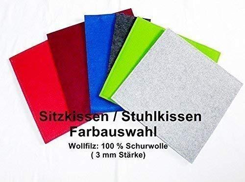 WunschFarbe - Sitzkissen aus Wollfilz, Stuhlkissen, Bankauflage
