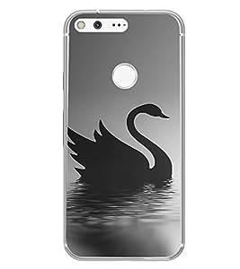 PrintVisa Designer Back Case Cover for Google Pixel (Artistic Swan as Swimming )
