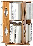 AGWa Estantes giratorios estantería simple estantería de escritorio 2-estante del estante de almacenamiento rotación de 360 grados soporte de exhibición,Rombo