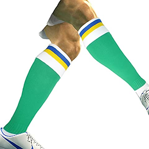 Men's Boys Professionally Designed and Manufactured Football Socks ankle support, arch support and cushioned sole (2 pairs