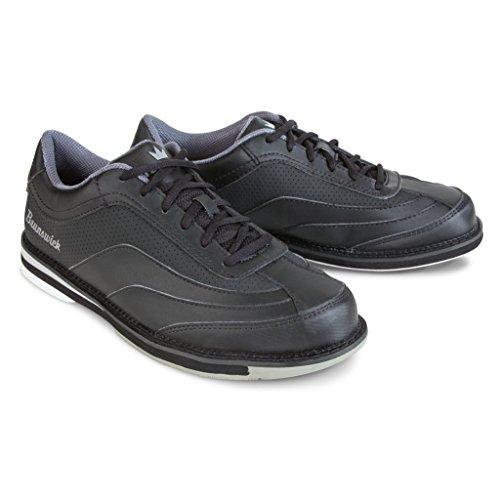 Brunswick Herren Bowlingschuhe, Schwarz, herren, Brunswick Mens Rampage Bowling Shoes- Black Right Hand, schwarz, 9 (Bowling-schuhe Rechte Hand)