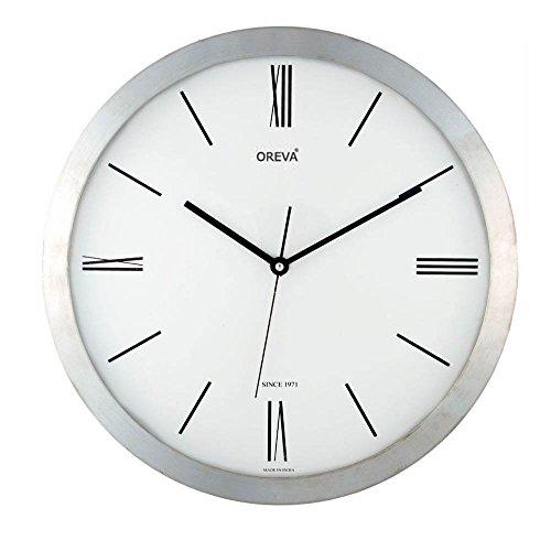 Oreva Ajanta Wall Clock(Silver)