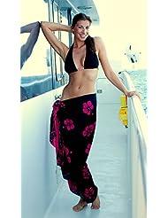 1 World Sarongs Damen Hibiskus Blumen Badeanzug Sarong in Ihrer gewählten Farbe