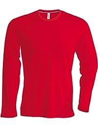 Herren T-Shirt Langarm Rundhals Shirt, Leicht Körperbetont, in 20 Farben  und Den ee0b7948fc
