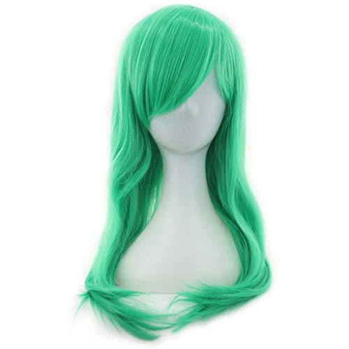 HHYK Farbe Welle langes lockiges Haar Tag Mann COS Perücke Anime Cosplay Mädchen Perücke Mode kreative Ideen
