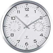 auriol - Reloj de Pared controlado por Radio (Ajuste automático de la Temperatura)